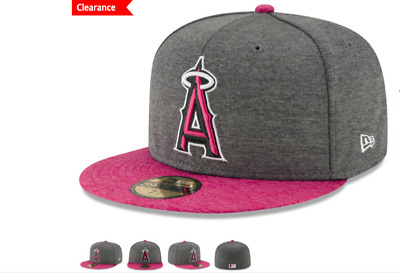 5975cf6d70f New Era Los Angeles Angels 59fifty Fitted Hat Cap Graphite Pink Mother s Day  MLB