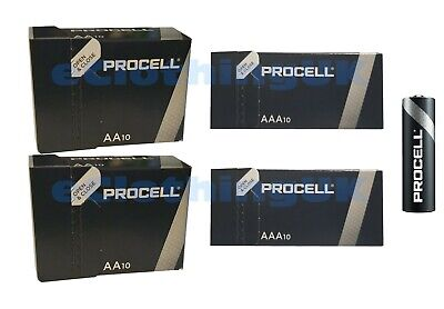 Duracell 20 X AAA And 20 X AA Procell Battery Replaces Industrial 2026 Expiry