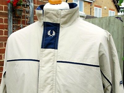 Fred Perry Stone Fleece Lined Sailing Jacket - XL - Ska Mod Scooter Casuals 90's