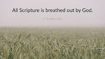 2 Timothy 3-16 38mm Extra Deep Canvas Picture Print - 3 Sizes Available!