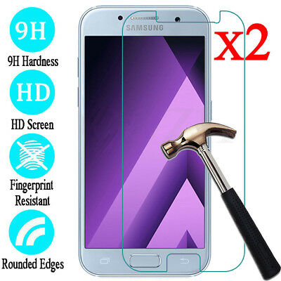 Tempered Glass Screen Protector For Samsung Galaxy A3 5 6 7 8 Plus 9 2018 2pcs