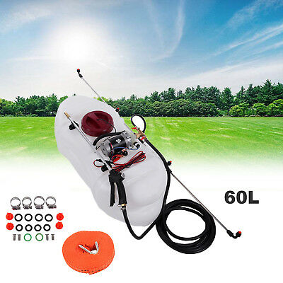 60L ATV Garden Weed Sprayer 12V Pump Tank Chemical Spray Boom Spot Wand