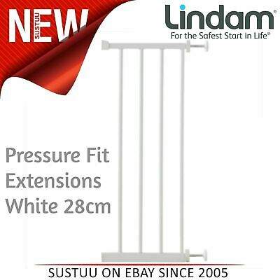 Lindam Pressure Fit Extensions│Toddler Kid's Safety Gate's Accessory│White│28cm│