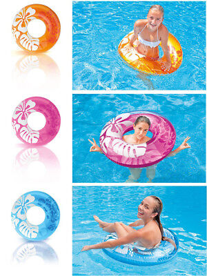 Adult Kids Inflatable Float Swimming Ring Swim Pool Trainer Safety Water Toy Hme