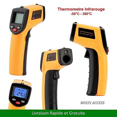 Thermometre Infrarouge laser IR mesure température sans contact -50°C à 380°C