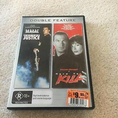 Double Feature. Steven Seagal. Out For Justice/ Hard To Kill Dvd