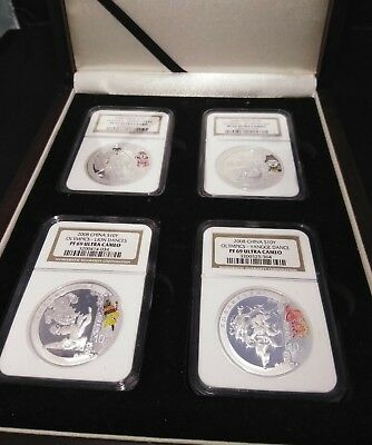 China Beijing 2008 Summer Olympic Games Commemorative Silver Coin 4 PCS Series 3