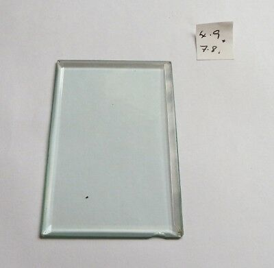 Bevelled glass panel for carriage clock or similar 4.9 cms x 7.8 cms