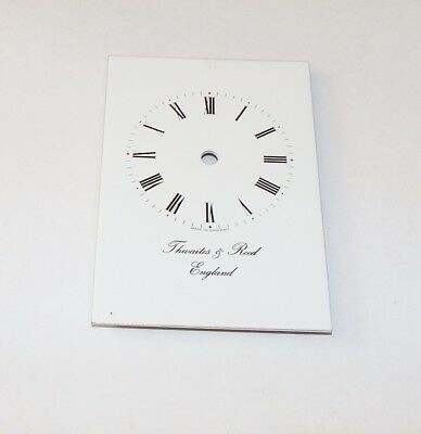 New! Carriage clock face  5.8cms x 8.5 cms with 4 locating pins to the rear.