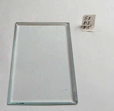 Bevelled glass panel for carriage clock or similar 5.8 cms x 8.3 cms to 8.5cms