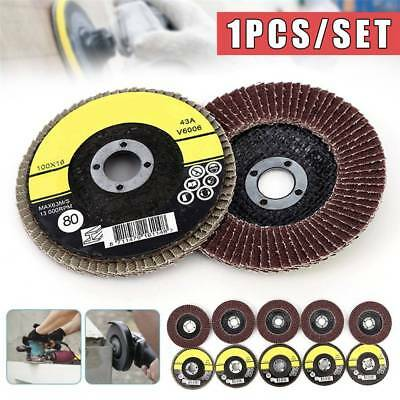 "10Pcs Metal Flap Discs Strong Sturdy 100mm 3.94"" Sanding Grinding Wheels 80 Grit"