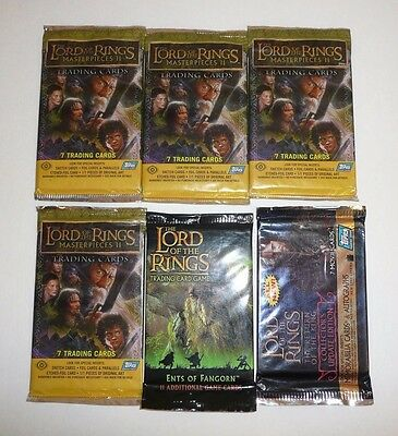 Lord of the Rings Lot of Trading Card Packs TOPPS LOTR Ents of Fangorn TCG