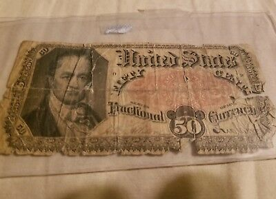 1875 US FRACTIONAL CURRENCY 50 CENT NOTE  SERIES post civil war dollars