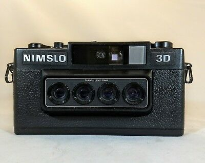 Nimslo 35mm 3D Camera Quadra Lens System, Battery Tested Works