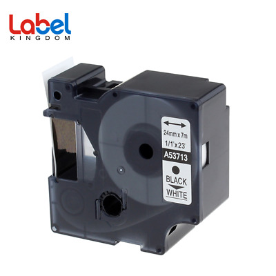 Compatible DYMO D1 53713 Label Tape LabelManager 120P 100 Black on White 24mm