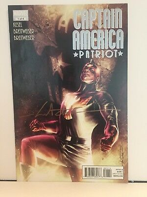 Captain America Patriot #1 signed by Mitch Breitweiser