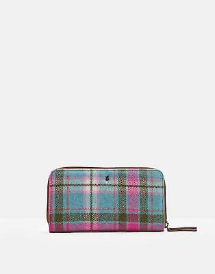 Joules Fairford Tweed Purse in Green Check in One Size