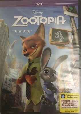 Zootopia (DVD 2016 Animation)RARE VINTAGE COLLECTIBLE-BRAND NEW SEALED-SHIP N24H