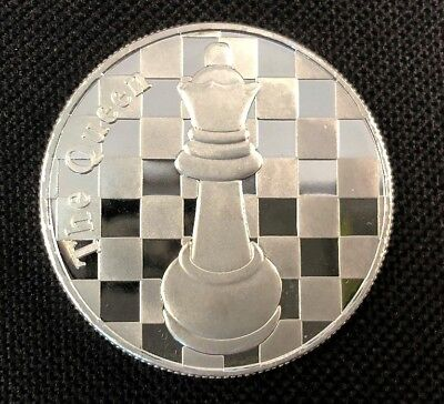 .999 Fine Silver Round Chess Coin - Limited Release - 1 Troy Oz - The Queen