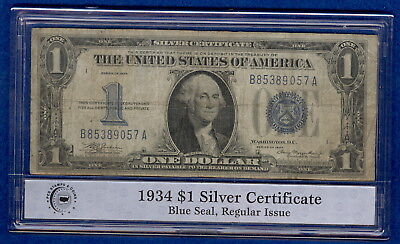 "1934 $1 Silver Certificate ""Funnyback"" - Circulated"