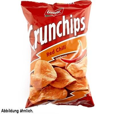 10x Crunchips Red Chili Geschmack á 150g=1,5kg MHD:6.8.18