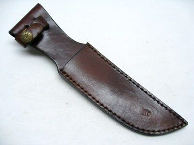 "Brown Leather Belt Sheath For Straight Fixed Knife Up To 6"" Blade SH1162"