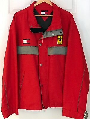Men's Jacket Ferrari Racing Formula 1 Tommy Hilfiger Size XL Vintage 2003