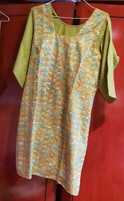Green embroided  salwar suit