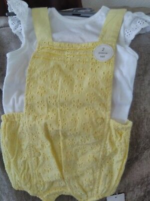 MOTHERCARE 2 piece set Baby Girls 6-9 Months  New
