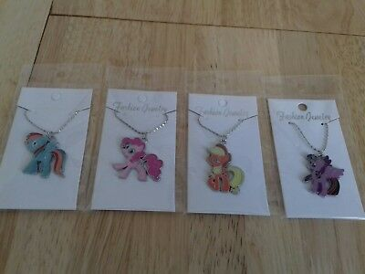 Job Lot 4 NEW NECKLACES MY LITTLE PONY CARDED AND BAGGED