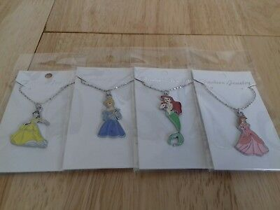 Joblot 4  Disney Princess Necklaces Carded And Bagged Free Postage