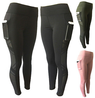 Women Compression Fitness Leggings Running Yoga Gym Pants Workout Active Wear #1