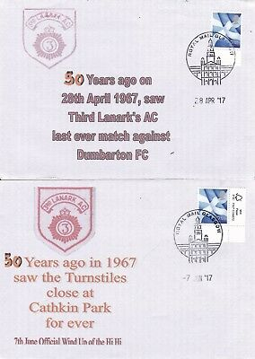"""2 Third Lanark Covers Last Game Against Dumbarton Fc Official """"wind_Up"""" Cathkin"""
