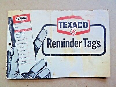 Vintage Book of Texaco Service Station Reminder Tags 1976