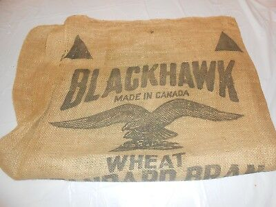 Vintage Burlap Feed Sack Bag Blackhawk