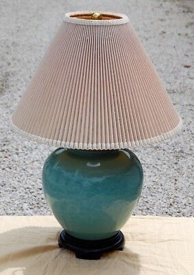 Oriental Wildwood Vintage Chinese Porcelain Table Celadon Lamp tdrxBQCohs
