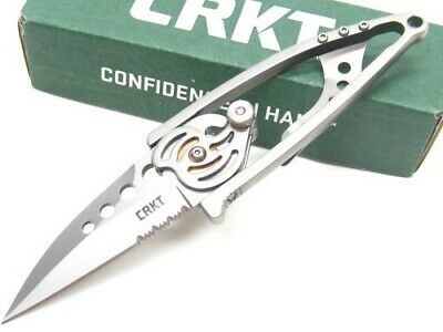 Columbia River CRKT 420J2 Steel Snap Lock Serrated Folding Pocket Knife 5112N