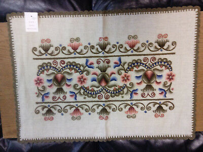 Vintage NEW Beautiful HUNGARIAN Embroidered TABLE CLOTH Pillow Case 17 X 24 Inch
