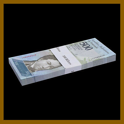 Venezuela 500 Bolivares x 100 Pcs Bundle, 2016-2017 P-New Unc