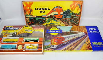 Lot 3 Vintage HO Scale Gage Electric Train Sets Bachmann Athearn Lionel