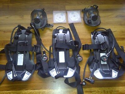 (3) North Frontier Series Self Contained Breathing SCBA (2) Mask Lot ~SUPER NICE