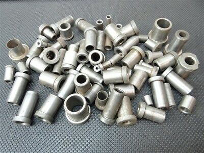 "Large Assorted Lot Of 50+ Hardened Drill Bushings 5/32"" To 3/4"""