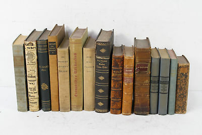 Lot of 15 Antique & Vintage German Language Decorative Novels Home Staging