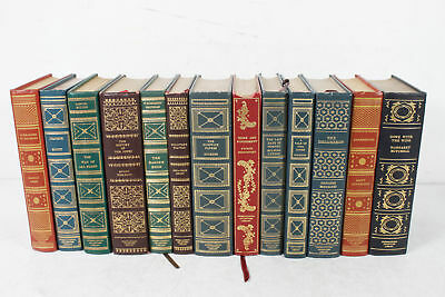 Lot of 12 Vintage Decorative Gilt Spine International Collector's Library Books