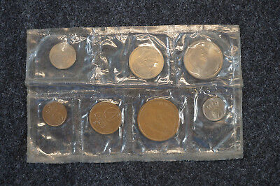 1964 Norway Mint 6 Coin Set in Original Packaging Unc Coins