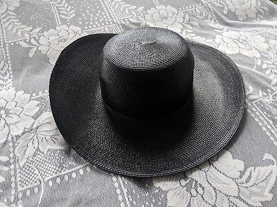 Street Smart by Betmar Wide brim beach straw hat black classic vintage chic d1a6145f65d8