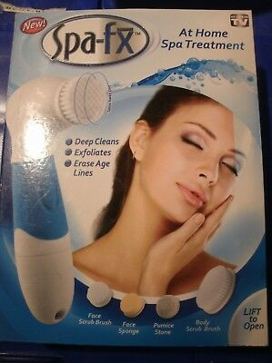 Spa-fx At Home Spa Treatment As Seen On TV Facial & Body Scrubber 5 pc Set