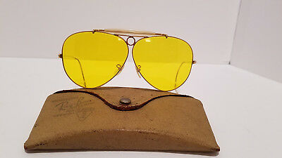 Vintage Bausch Lomb Ray-Ban B&L 1/10 12K GF Aviator Shooters Bullet Hole Glasses