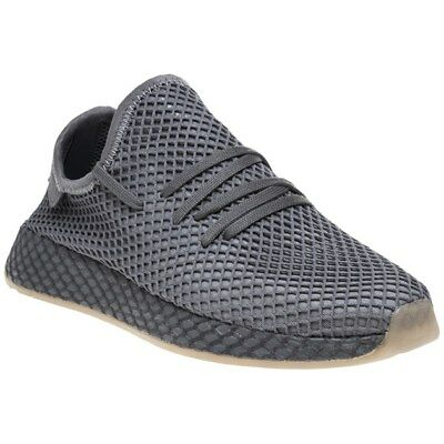 New Mens adidas Grey Deerupt Runner Nylon Trainers Running Style Lace Up