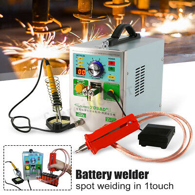 SUNKKO S709AD LED Dual Pulse Spot Welder Machine 4 in 1 Battery Charger 50W